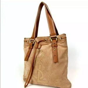Authentic YSL Brown Suede leather Handbag